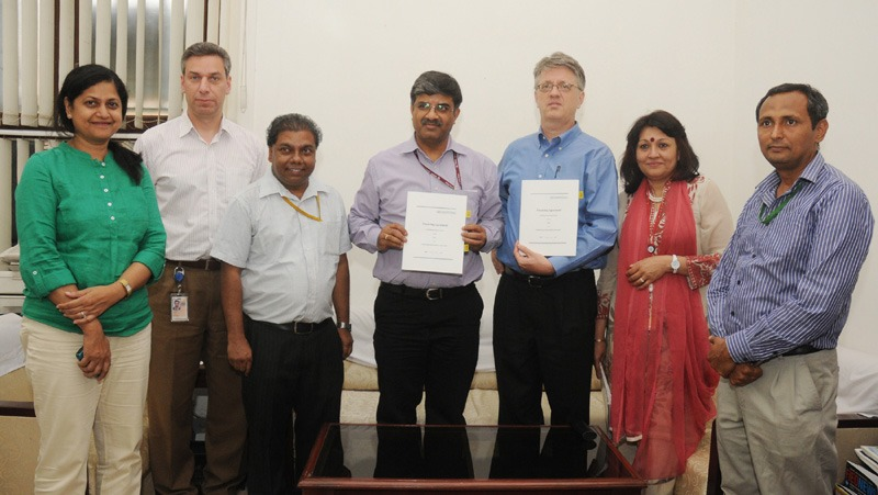 The Joint Secretary (Multilateral Institutions), Department of Economic Affairs, Ministry of Finance, Shri Nilaya Mitash and the World Bank's Operation's Advisor in India, Mr. Michael Haney signed the agreement for SSA III project (Sarva Shiksha Abhiyan III), in New Delhi on May 29, 2014.