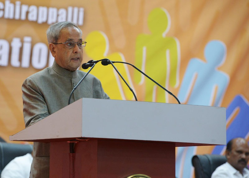 The President, Shri Pranab Mukherjee addressing at the Inauguration of the Golden Jubilee Celebration of National Institute of Technology, at Tiruchirappalli, in Tamil Nadu on July 19, 2014.