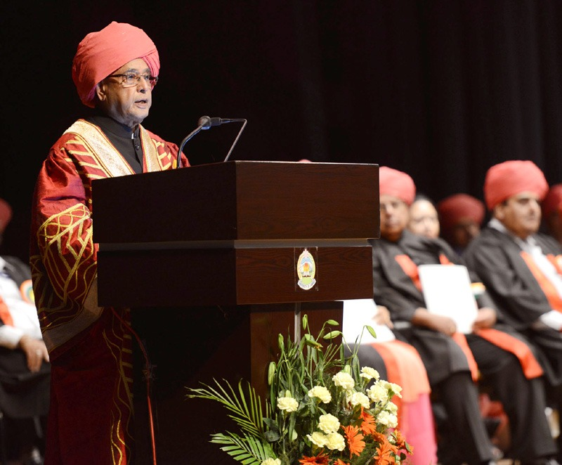 The President, Shri Pranab Mukherjee addressing at the 14th Convocation of The University of Jammu, in Jammu on September 01, 2014.