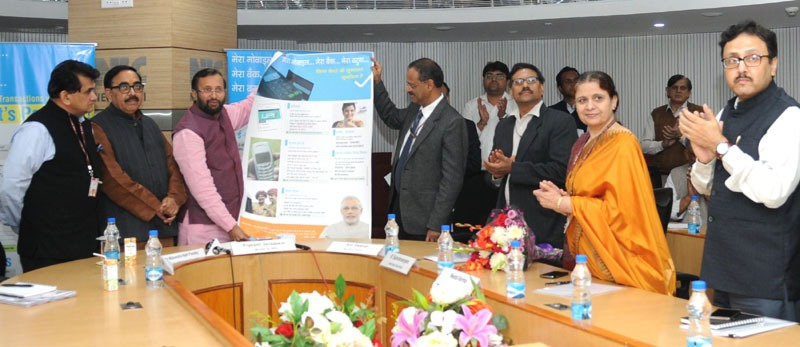 The Union Minister for Human Resource Development, Shri Prakash Javadekar at a function to address the Higher Education Institutions through Video-Conference, in New Delhi on December 01, 2016. The Minister of State for Human Resource Development, Dr. Mahendra Nath Pandey and other dignitaries are also seen.