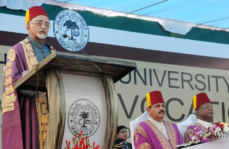 The Vice President, Shri Mohd. Hamid Ansari addressing at the 61st Convocation of Aligarh Muslim University, in Aligarh, Uttar Pradesh on March 29, 2014.