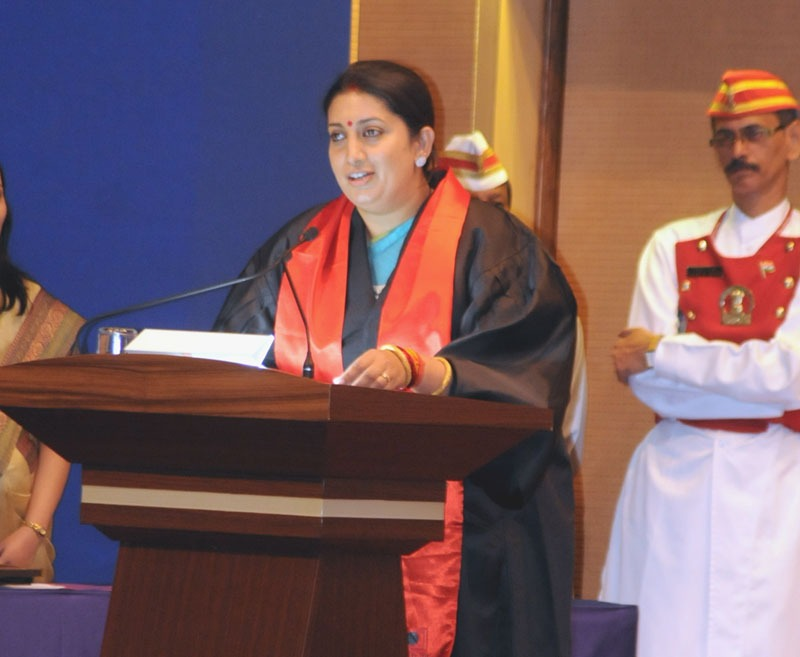 The Union Minister for Human Resource Development, Smt. Smriti Zubin Irani speaking at the Third Convocation of Indian Institute of Science Education & Research, in Pune on June 15, 2014.