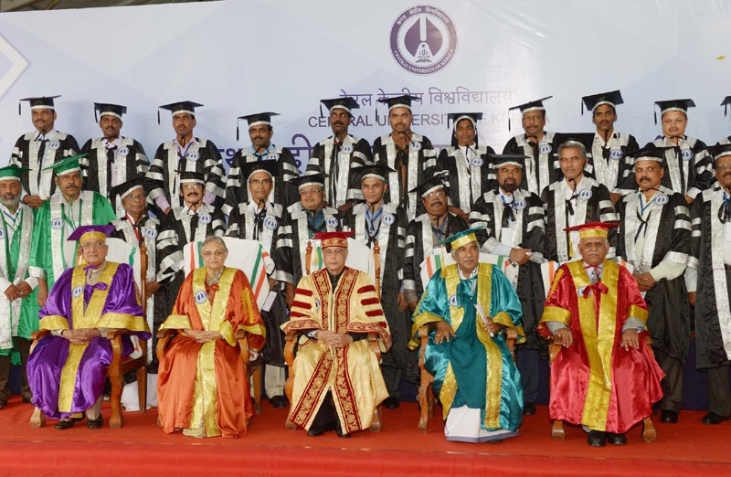 The President, Shri Pranab Mukherjee at the inauguration of First Convocation of the Central University of Kerala, at Kasaragod, in Kerala on July 18, 2014. The Governor of Kerala, Smt. Sheila Dixit, the Chief Minister of Kerala, Shri Oommen Chandy and other dignitaries are also seen.