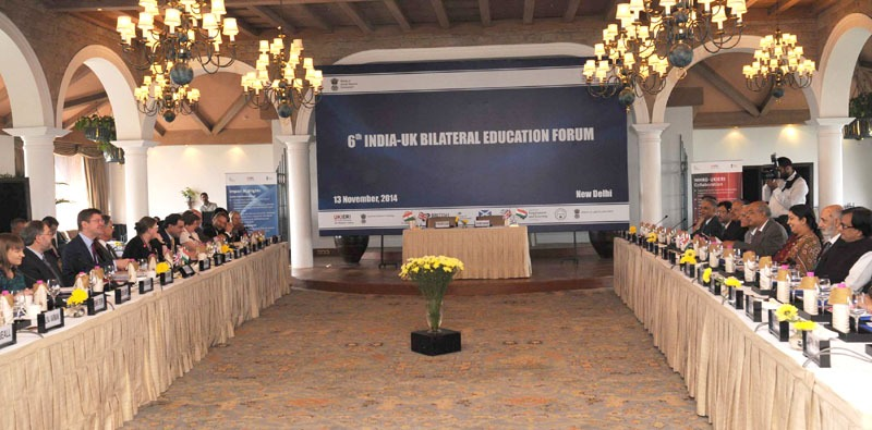 The Union Minister for Human Resource Development, Smt. Smriti Irani at the 6th India-UK Bilateral Education Forum, in New Delhi on November 13, 2014.