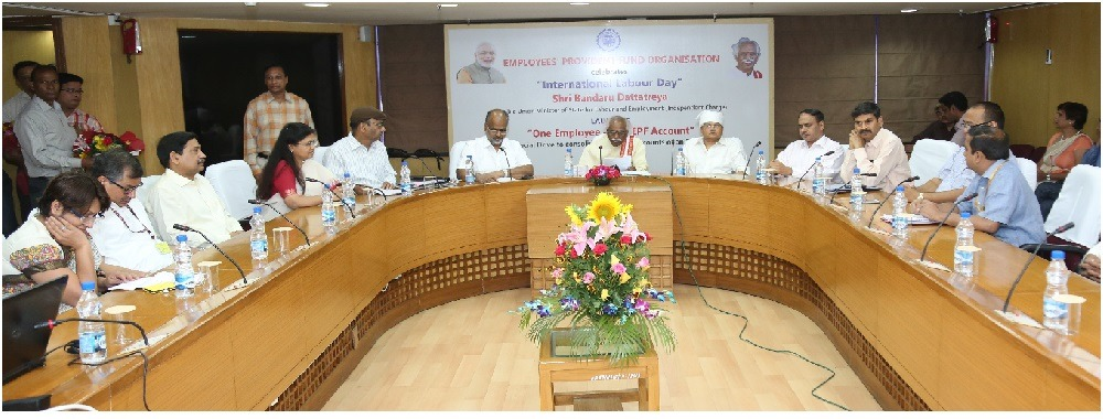 "Epfo Launches a Special Drive :Mission Consolidation""One Empployee-One Account"" on May Day"