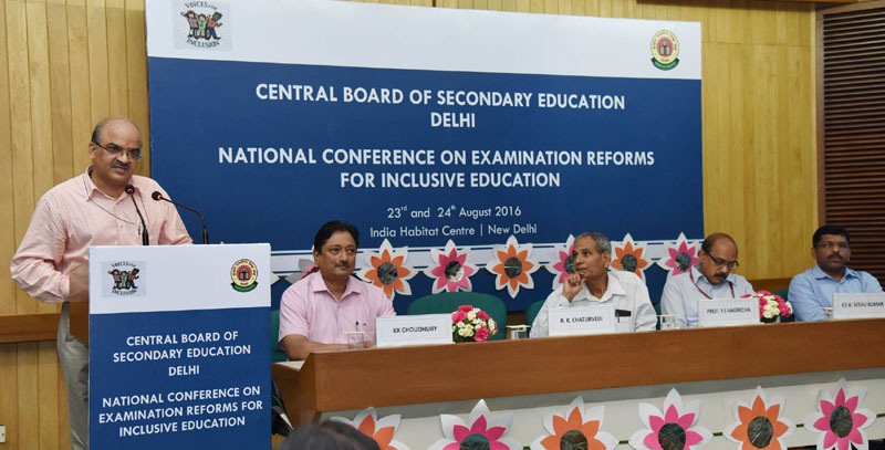 The Chairman, CBSE, Shri R.K. Chaturvedi addressing at the inauguration of the National Conference on Examination Reforms for Inclusive Education, in New Delhi on August 23, 2016.